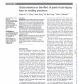 Preview image of journal article Global evidence on the effect of point-of-sale display bans on smoking prevalence