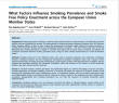Preview image of journal article What Factors Influence Smoking Prevalence and Smoke Free Policy Enactment across the European Union Member States