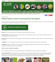 preview of website Global Tobacco Control: Learning from the Experts online course